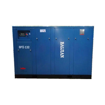 hot sale 132kw two-stage screw air compressor 8 bar frequency